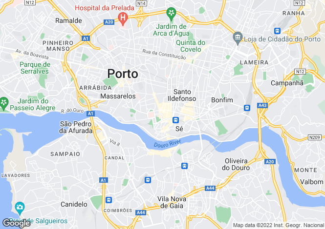 Map for Portugal,Porto,Porto