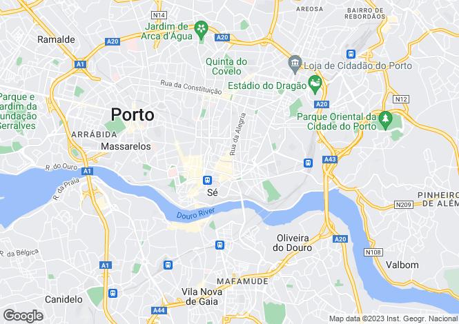 Map for Santa Catarina, Porto, Portugal, 4000-381