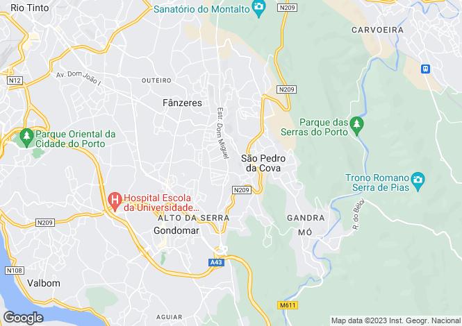 Map for Portugal,Porto,Gondomar