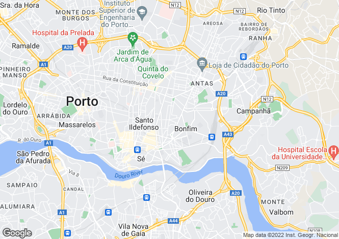 Map for Portugal,Porto,Porto
