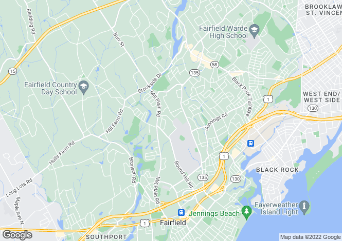 Map for USA - Connecticut, Fairfield County, Fairfield