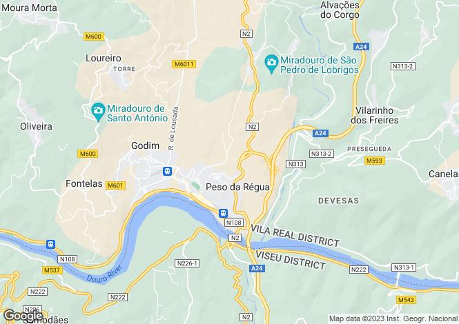 Map for Peso da Régua, Tras-os-Montes