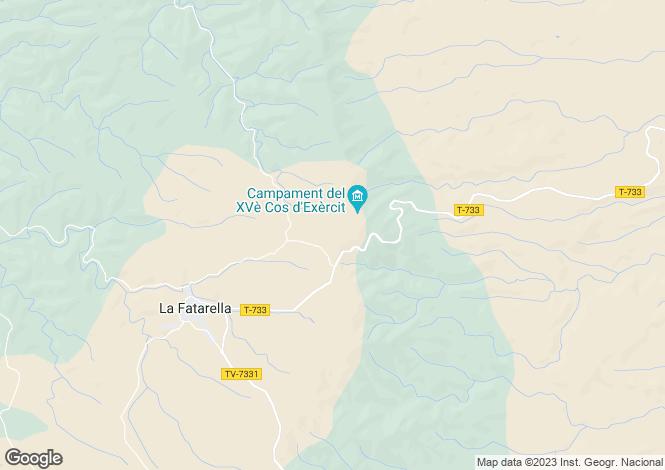 Map for La Fatarrella, Tarragona, Catalonia