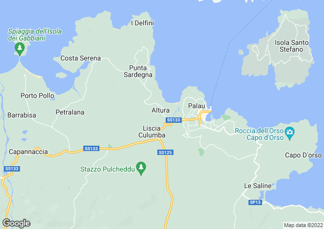 Map for Porto Rafael, Sardinia, Italy