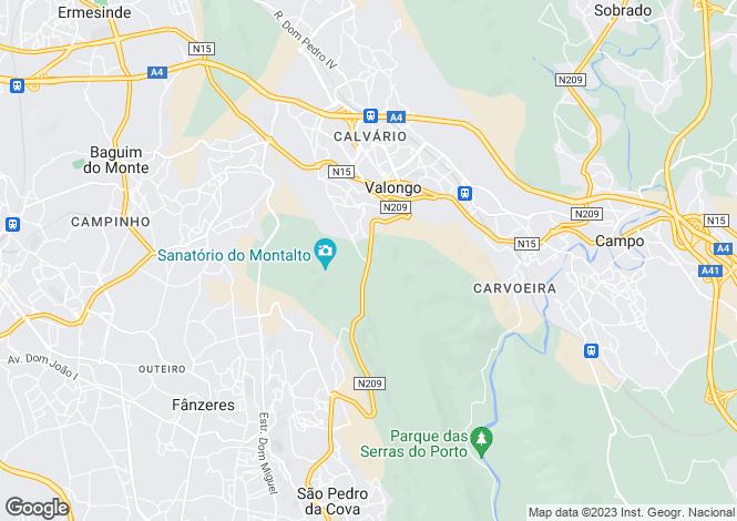Map for Portugal,Porto,Valongo