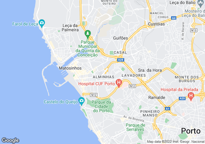 Map for Matosinhos,Portugal