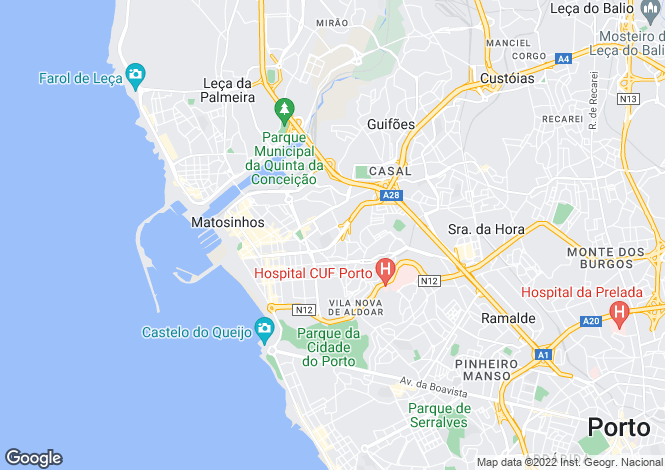 Map for Portugal,Porto,Matosinhos