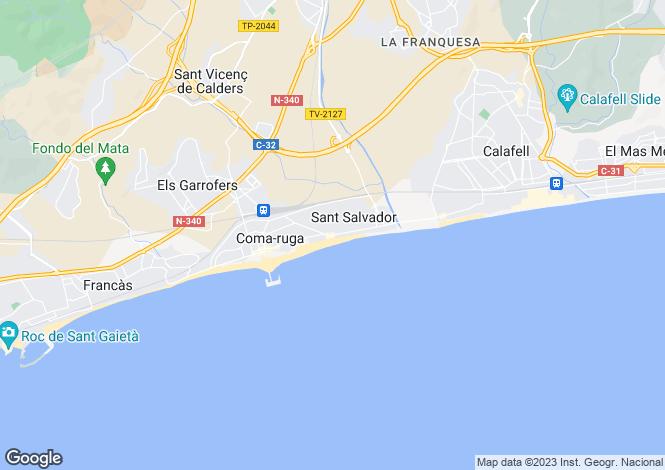 Map for Penedes, El Vendrell, Baix Penedés, Cataluña