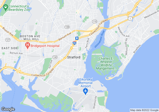 Map for USA - Connecticut, Fairfield County, Stratford