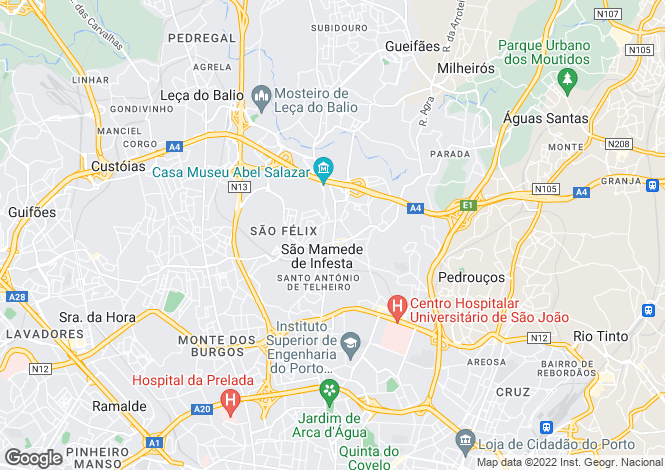 Map for House In Great Location, Sao Mamede Infesta, Porto
