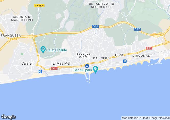 Map for Segur de Calafell, Tarragona, Catalonia