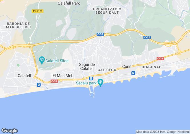 Map for Calafell, Tarragona, Catalonia