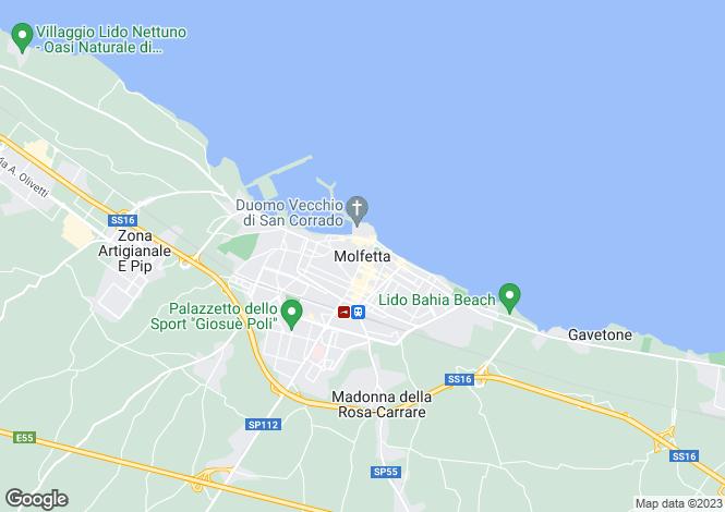 Map for Molfetta, Puglia