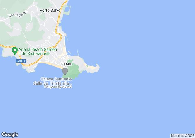 Map for Salita Chiaromonte, Gaeta, 04024, Italy