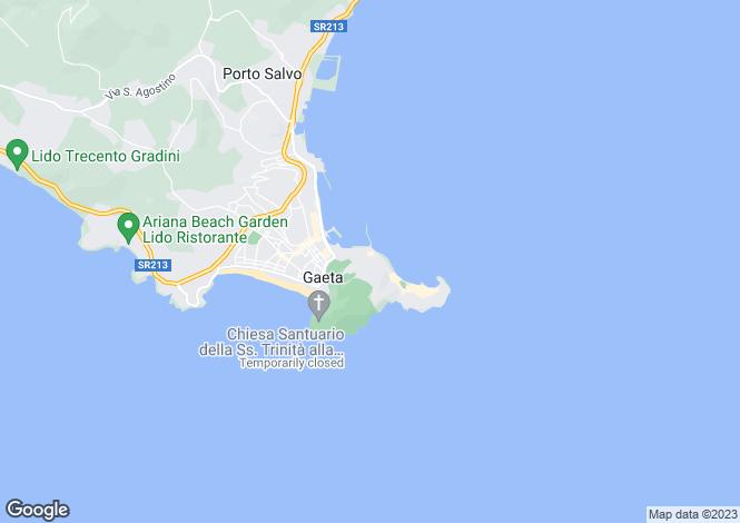 Map for Lazio, Latina, Gaeta