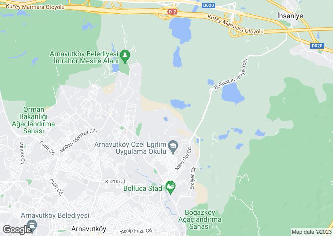 Map for Arnavutköy, Gaziosmanpasa, Istanbul