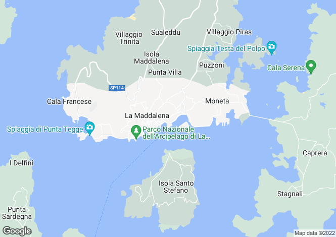 Map for Sardinia, Sassari, La Maddalena