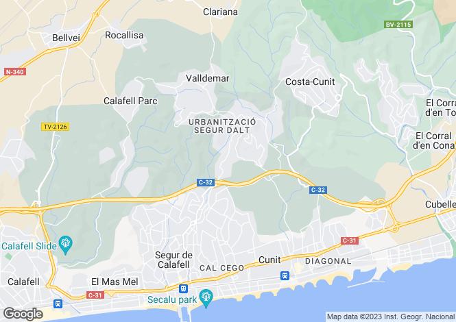Map for Segur De Calafell, Tarragona, Spain