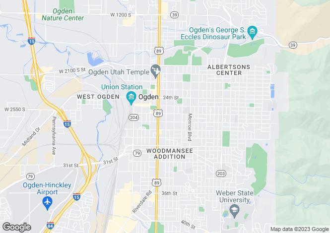 Map for Utah, Weber County, Ogden