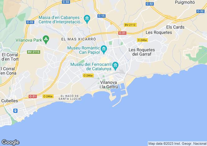 Map for Catalonia, Barcelona, Vilanova i la Geltrú