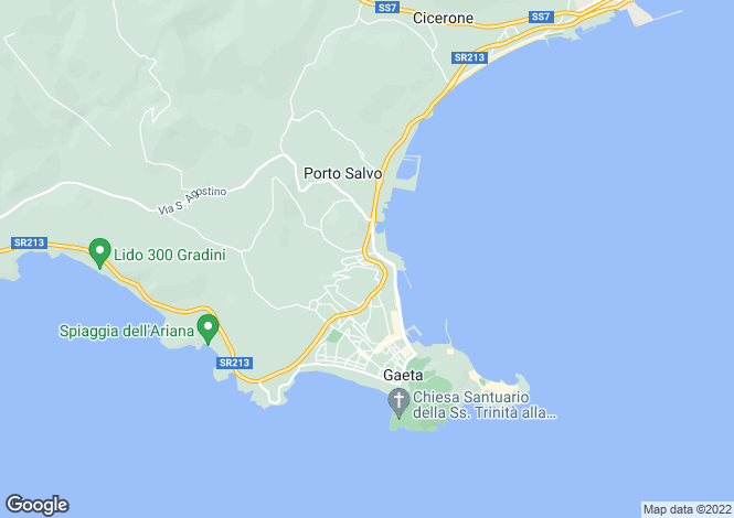 Map for Via Costa Ginestre, Gaeta, 04024, Italy