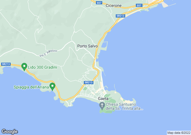 Map for Via Indipendenza, Gaeta, 04024, Italy
