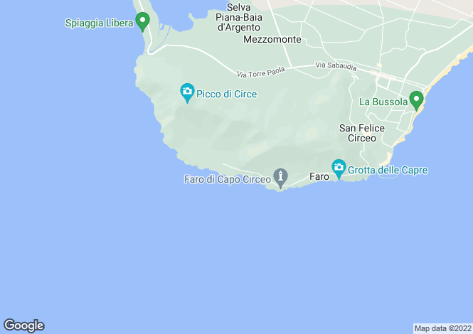 Map for Lazio, Latina, San Felice Circeo