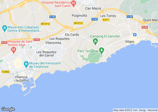 Map for Can Girona, Sitges, Catalonia, Spain