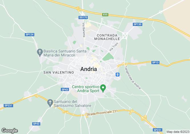 Map for Apulia, Bari, Andria