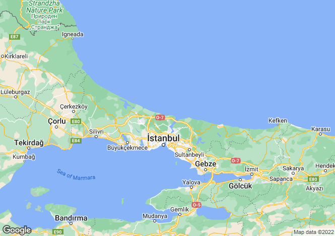 Map for Turkey - Istanbul, Sariyer
