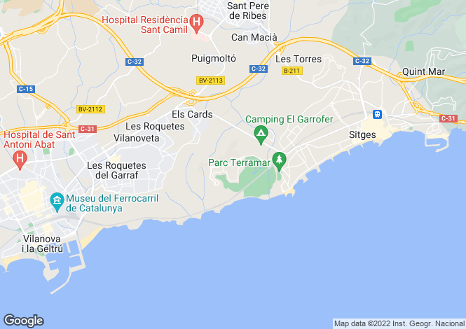 Map for Barcelona Coasts, sitges, Sitges - Can Girona - Golf