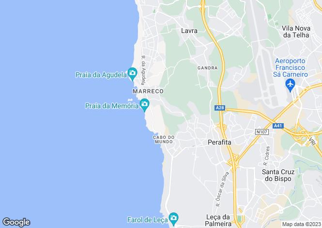 Map for Oporto, Matosinhos