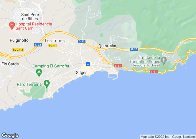 Map for Barcelona Coasts, Sitges, Sitges - Sant Sebastián