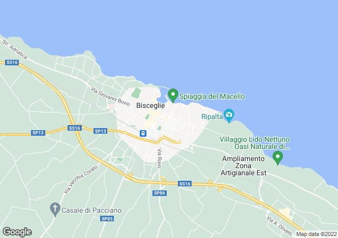 Map for Apulia, Bari, Bisceglie