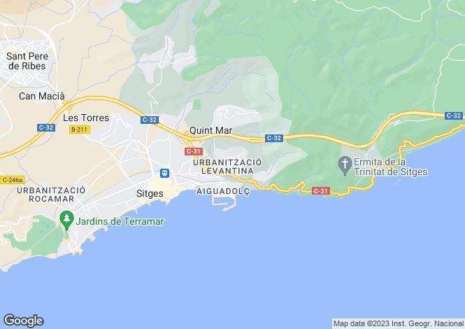 Map for Barcelona Coasts, Sitges, Sitges - Montgavina