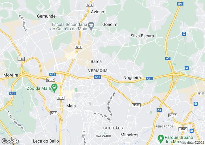 Map for Oporto, Maia