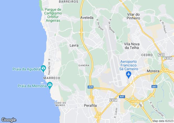 Map for Portugal,Porto,Matosinhos