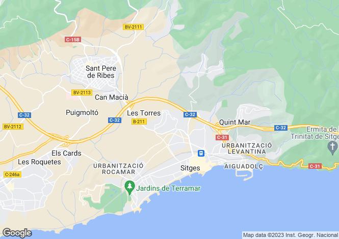 Map for Barcelona Coasts, sitges, Sitges - Vallpineda