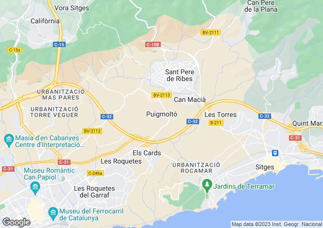 Map for Puigmolto, Sant Pere de Ribes, Barcelona