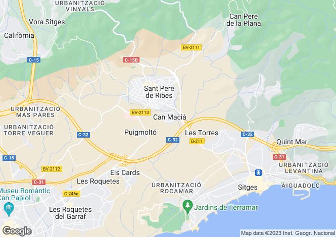 Map for Catalonia, Barcelona, Sant Pere de Ribes