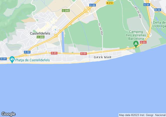Map for Catalonia, Barcelona, Gavà