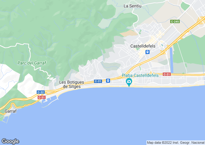 Map for Castelldefels, Barcelona, Catalonia