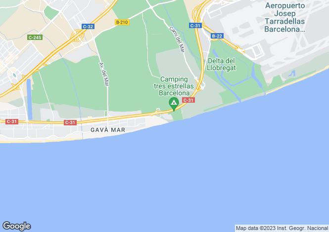 Map for Gavà, Barcelona, Catalonia