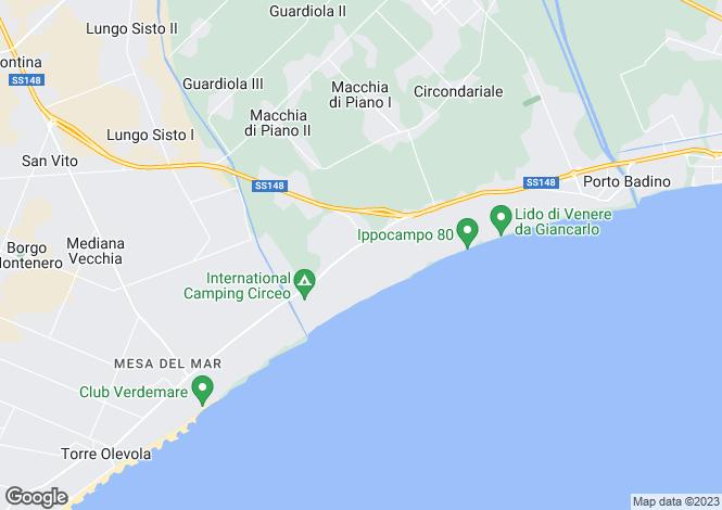 Map for Italy - Lazio, Latina, Terracina