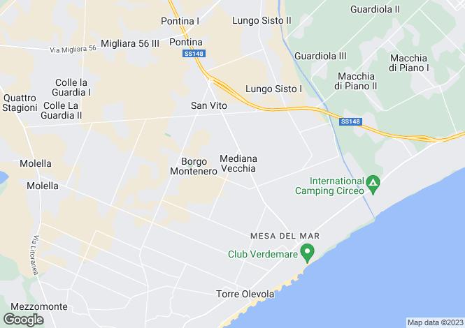 Map for Italy - Lazio, Latina, San Felice Circeo