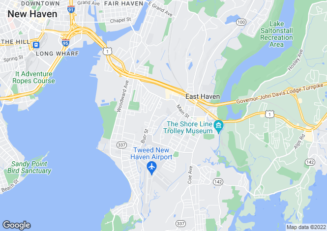 Map for USA - Connecticut, East Haven