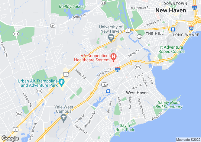 Map for USA - Connecticut, New Haven County, West Haven