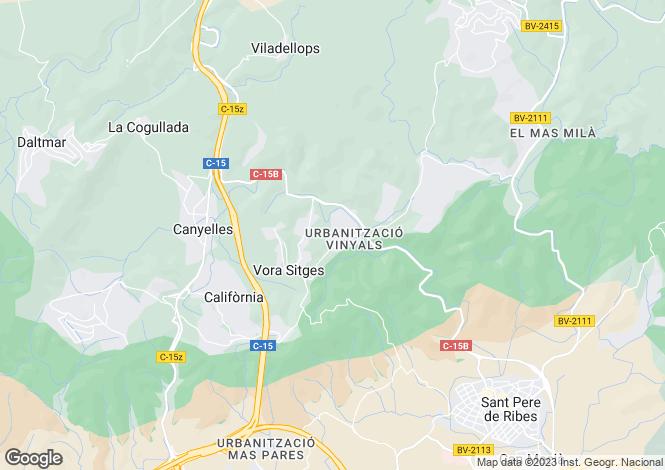 Map for Canyelles, Barcelona, Catalonia, Spain