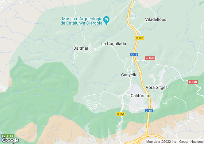 Map for Olivella, Barcelona, Catalonia