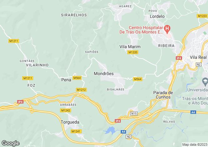 Map for Portugal,Vila Real,Vila Real